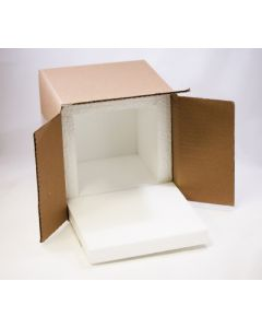 "8""x8""x8"" Shipping Box with 1"" Foam"